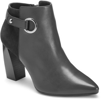 Aerosoles Final Word Leather & Suede Bootie