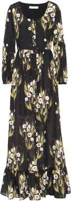 Borgo de Nor Mina Floral-print Crepe De Chine Maxi Dress