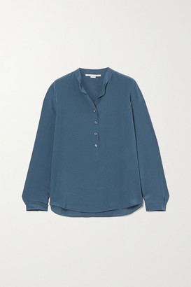 Stella McCartney Eva Silk Crepe De Chine Shirt - Blue