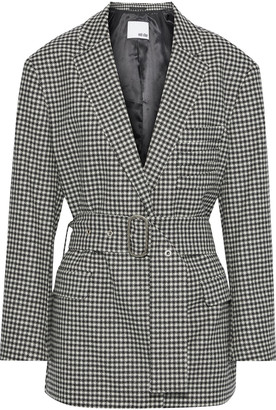 Each X Other Belted Houndstooth Wool Jacket