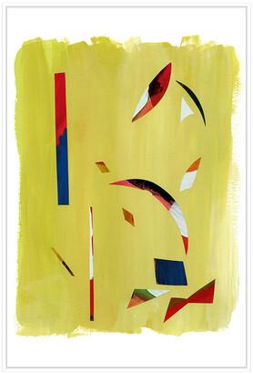 Jonathan Bass Studio Painted Shards I, Decorative Framed Hand Embellish