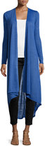 Neiman Marcus Long Knit Duster, Royal Blue