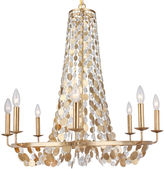 Crystorama Cara 8-Light Chandelier, Antiqued Gold