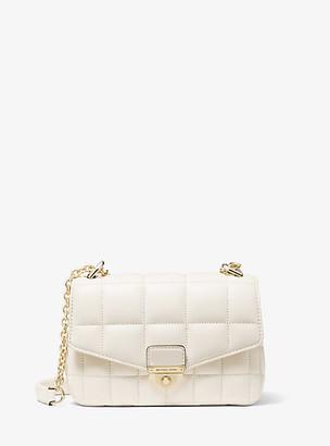 MICHAEL Michael Kors MK Soho Small Quilted Leather Shoulder Bag - Lt Cream - Michael Kors