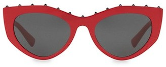 Valentino Individual 53MM Studded Cateye Sunglasses