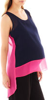 Motherhood Maternity Sleeveless High-Low Tank Top - Plus