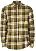 Topman Black, Yellow and White Check Casual Shirt
