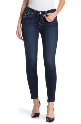 True Religion Jennie Flap Pocket Mid Rise Skinny Jeans