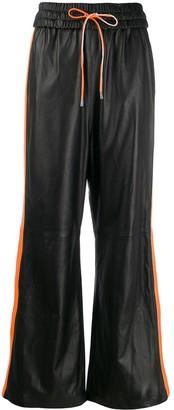 Manokhi Side-Stripe Flared Trousers