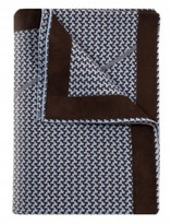 The Well Appointed House 100% Cashmere Jacquard Knit Throw in Azure