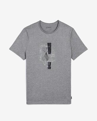 Express Gray Soundwave Graphic T-Shirt