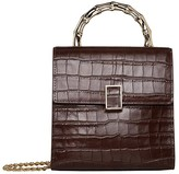 Loeffler Randall Tani Mini Square Crossbody (Dark Brown) Handbags