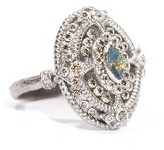 Armenta New World Oval Stacked Boulder Opal Ring