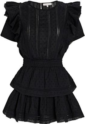 LoveShackFancy Natasha Ruffled Cotton Mini Dress