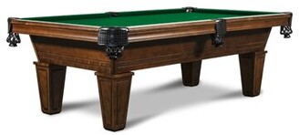 Nixon Miller Slate 8' Pool Table With Professional Installation Included Billiards Felt Color: Championship Green