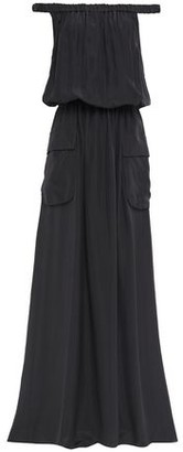 Brunello Cucinelli Off-the-shoulder Gathered Silk-chiffon Maxi Dress