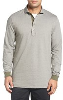 Bobby Jones Men's Houndstooth Long Sleeve Polo