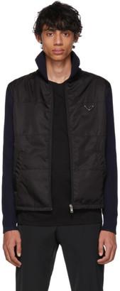 Prada Navy and Black Nylon Knit Jacket