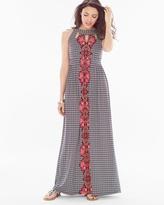 Soma Intimates Keyhole Maxi Dress Horizons Black