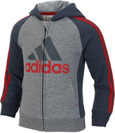 adidas Graphic-Print Hoodie, Little Boys