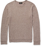 A.P.C. Mélange Cotton and Linen-Blend Sweater
