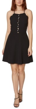 Betsey Johnson Scalloped Halter-Neck Dress
