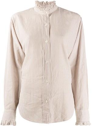 Etoile Isabel Marant Ruffle Collar Stripe Shirt