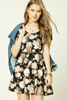 Forever 21 Belted Floral Mini Dress