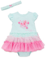 Little Me Two-Piece Butterfly Ombre Tutu Dress and Headband