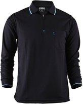 Bcpolo Men's Zip Polo Shirt Long Sleeves Casual, Golf DRI FIT Polo Shirt L