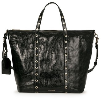 Vanessa Bruno Large Crinkled Leather Zippy Bag
