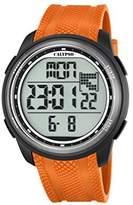 Calypso Unisex Digital Watch with LCD Dial Digital Display and Orange Plastic Strap K5704/2