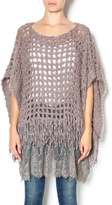 Ryu Lace Bottom Poncho Sweater