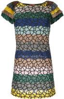 Missoni glitter detail striped dress
