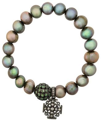 Loree Rodkin Pearl Diamond Charm Bracelet