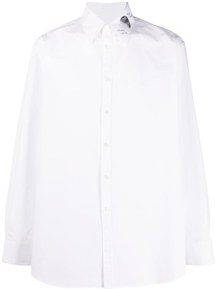 Valentino Embroidered Sequinned Collar Shirt