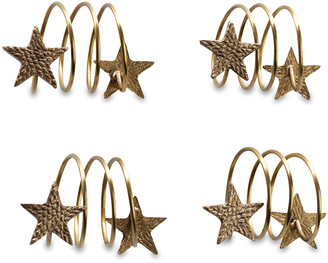 Nkuku Napkin Rings - Set of 4 - Star
