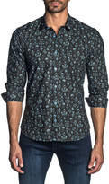 Jared Lang Men's Long-Sleeve Floral Sport Shirt