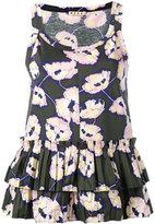 Marni whisper print tank top - women - Cotton - 40