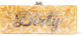 Edie Parker Flavia Dirty Acrylic Box Clutch - Yellow