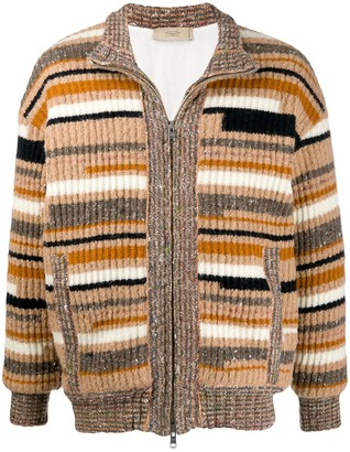 Maison Flaneur Striped Knit Cardigan