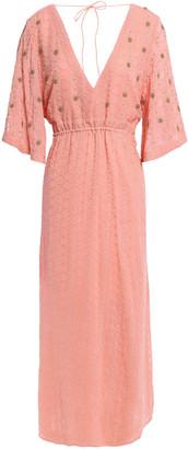 SUNDRESS Bead-embellished Georgette Midi Dress