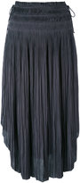 Ulla Johnson curved pleated skirt - women - Polyester - 2