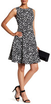 Kasper Polka Dot Fit & Flare Dress
