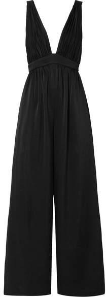 Rachel Zoe Anouk Crepe Jumpsuit - Black