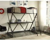 STUDY 4D Concepts Zinnia Twin Metal Loft Bed