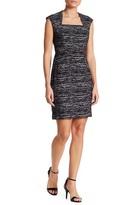 Adrianna Papell Cap Sleeve Heather Knit Jacquard Dress (Missy & Petite)