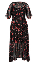 City Chic Fall In Love Maxi Dress