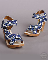 Cynthia Vincent Brady Woven Leather Heels