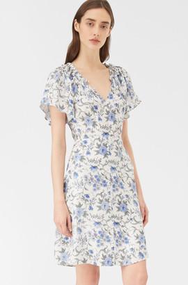 Rebecca Taylor Esmee Fleur Silk Twill Dress